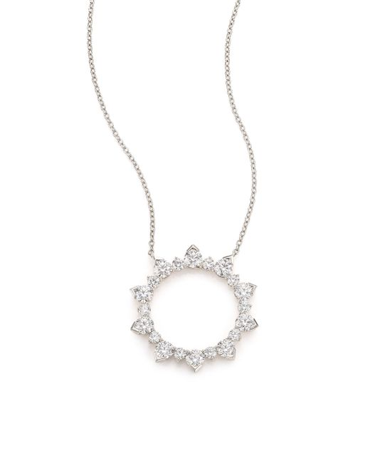 Hearts On Fire | Aerial Diamond & 18k White Gold Necklace | Lyst