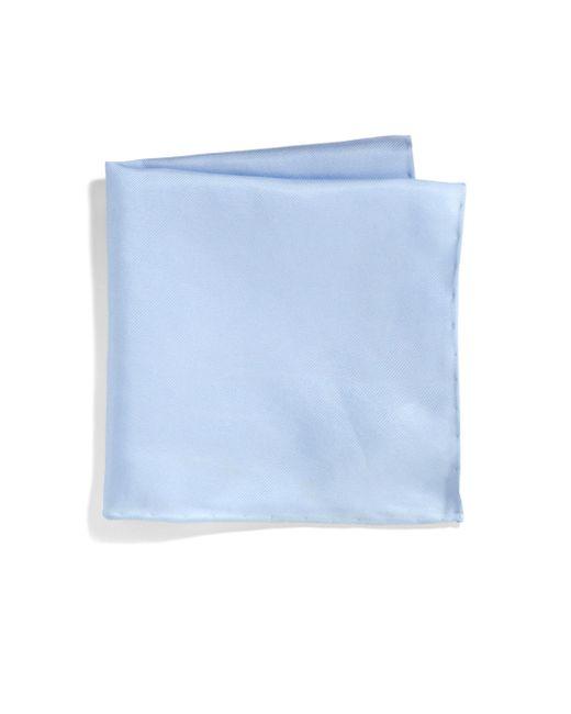 Saks Fifth Avenue - Blue Silk Solid Pocket Square for Men - Lyst