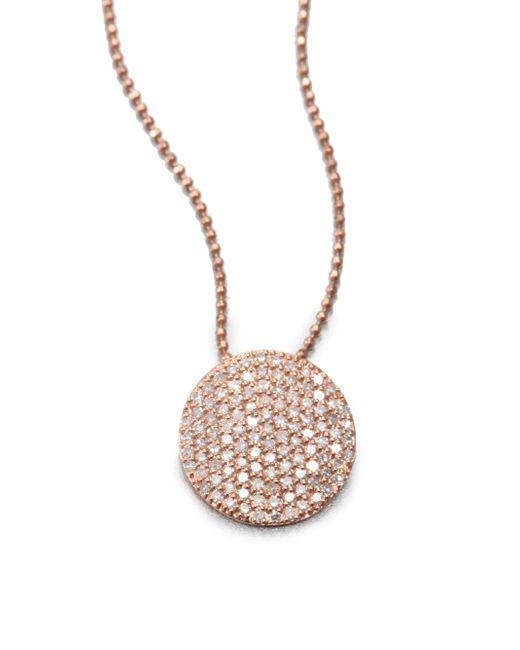 Phillips House | Metallic 14k Rose Gold & Diamond Infinity Pendant Necklace | Lyst