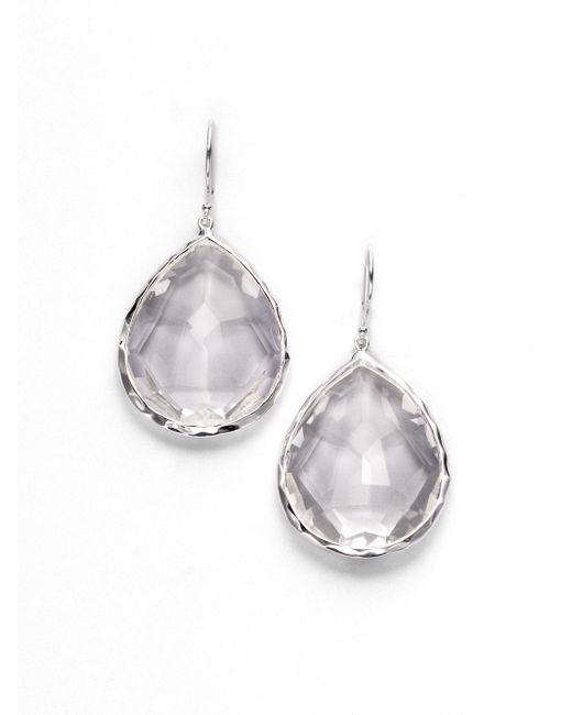 Ippolita | Metallic Rock Candy Clear Quartz & Sterling Silver Large Teardrop Earrings | Lyst