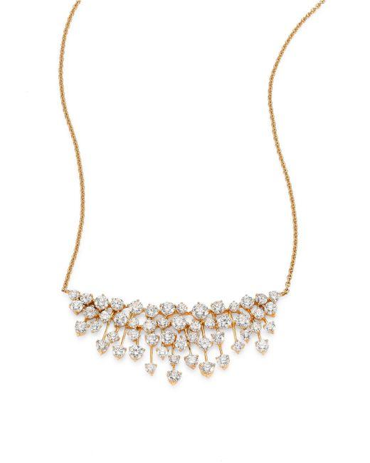 Hueb - Metallic Luminus Large Diamond & 18k Yellow Gold Pendant Necklace - Lyst
