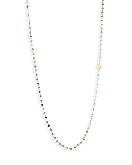 Ron Hami | Metallic Multicolor Sapphire & 18k Yellow Gold Beaded Strand Necklace | Lyst