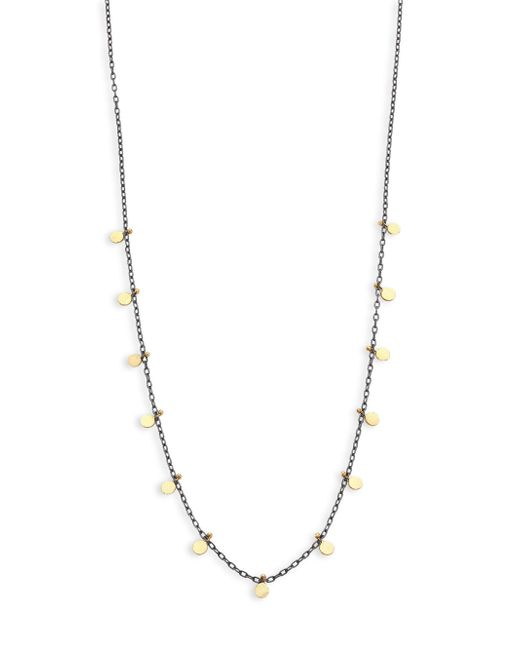Sia Taylor - Metallic Dots Sterling Silver & 18k Yellow Gold Necklace - Lyst