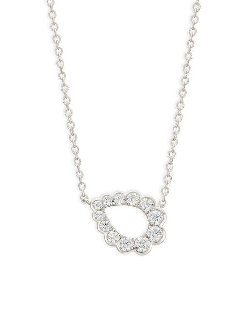 Hearts On Fire - Metallic 18k White Gold & Diamond Teardrop Pendant Necklace - Lyst