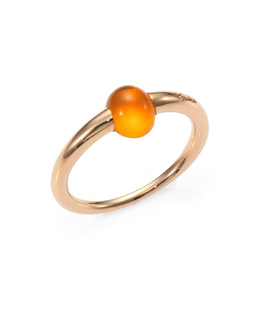 Pomellato - Metallic M'ama Non M'ama Fire Opal & 18k Rose Gold Cabochon Ring - Lyst