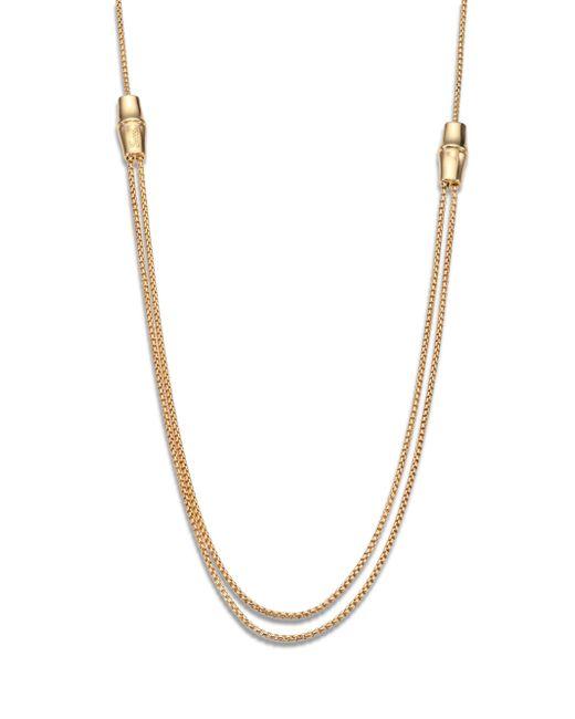 Gucci - Metallic Bamboo 18k Yellow Gold Box Chain Necklace - Lyst