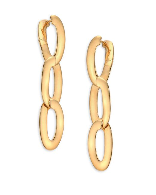 Vhernier | Metallic Olimpia 18k Rose Gold Link Earrings | Lyst