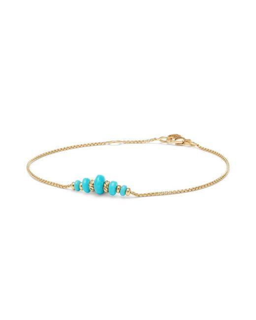 David Yurman - Metallic Rio Rondelle Gemstone & 18k Yellow Gold Chain Bracelet - Lyst