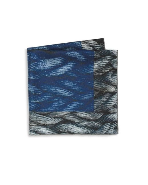 Hook + Albert | Blue Mystic Rope Sling Silk Pocket Square | Lyst
