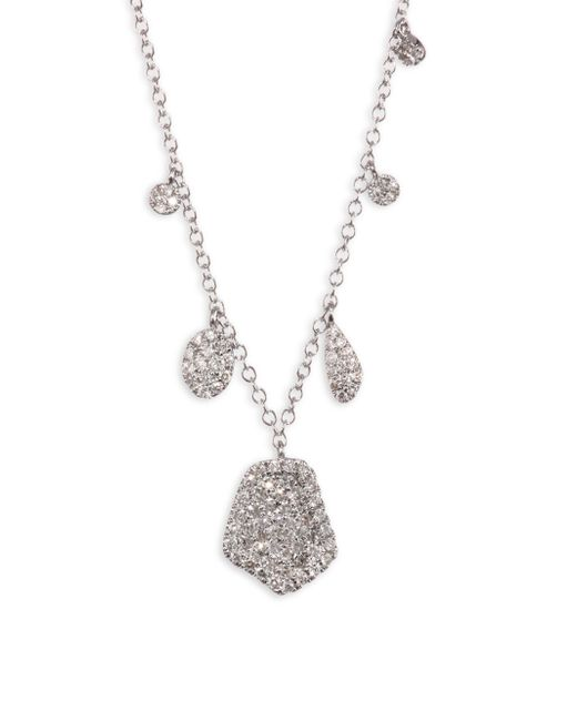 Meira T - Metallic Paved Diamond & 14k White Gold Necklace - Lyst