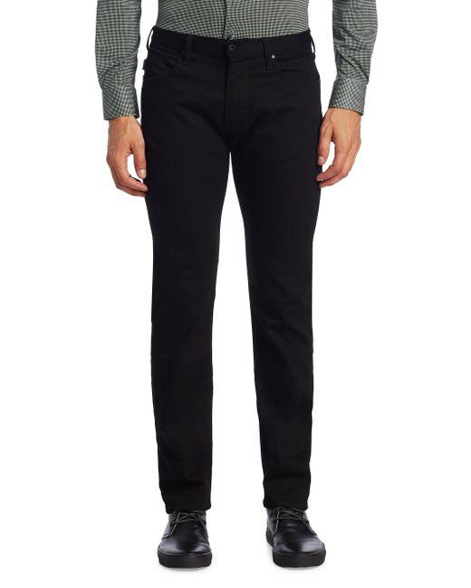 Armani | Black Aj Slim-fit Twill Denim Pants for Men | Lyst