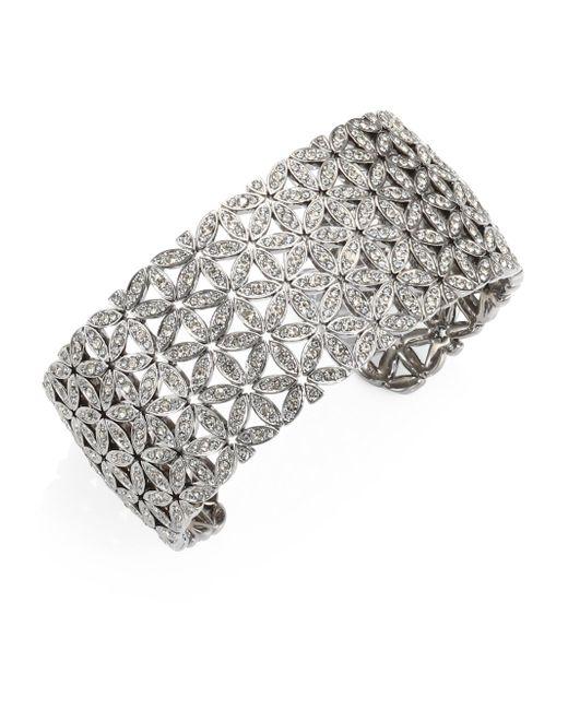 Adriana Orsini - Metallic Anise Wide Crystal Cuff Bracelet - Lyst