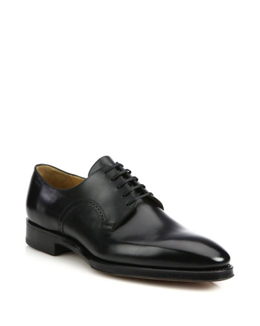 Bally - Black Scribe Leather Derby Shoes for Men - Lyst