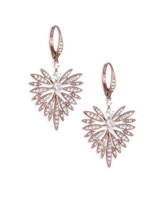 Adriana Orsini - Metallic Small Swarovski Crystal Burst Earrings - Lyst