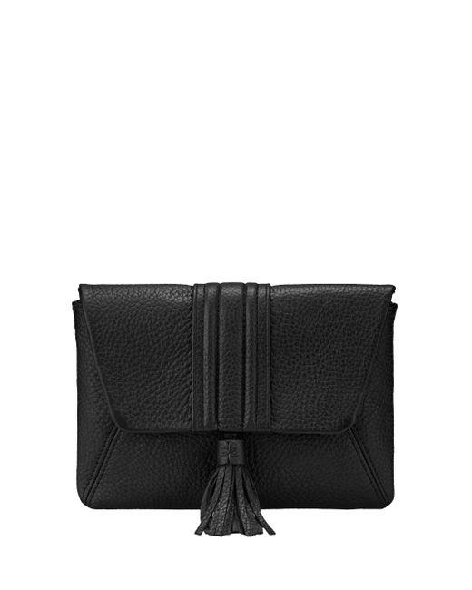 Gigi New York | Black Ava Pebbled Leather Clutch | Lyst
