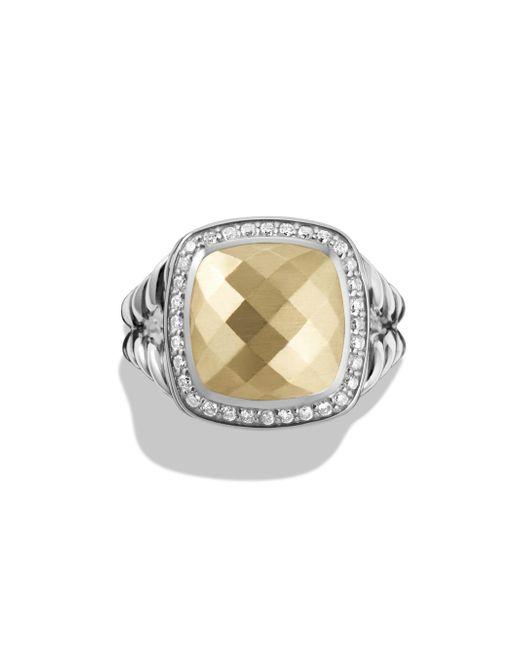 David Yurman - Metallic Albion Ring With Diamonds And 18k Gold - Lyst