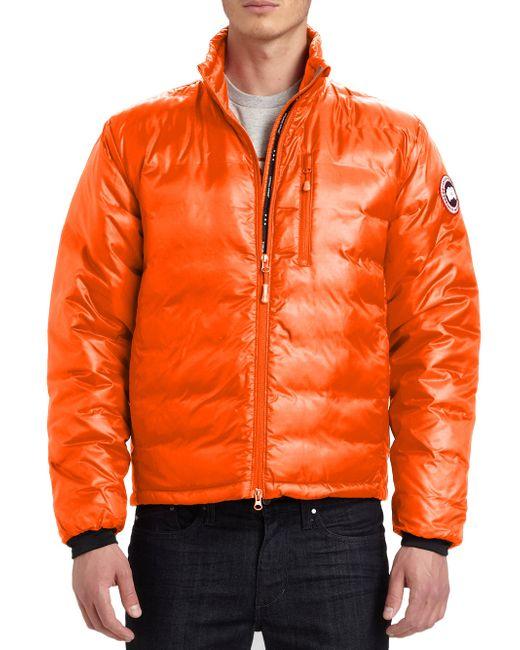 Canada Goose - Orange Lodge Down Jacket for Men - Lyst