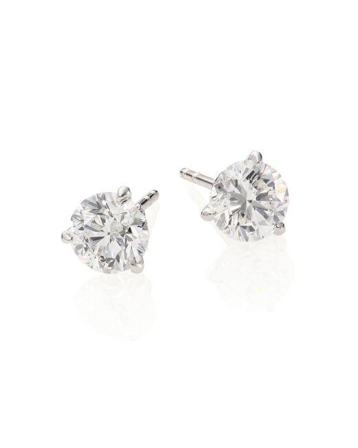 Roberto Coin | Metallic Diamond & 18k White Gold Stud Earrings/2.0 Tcw | Lyst