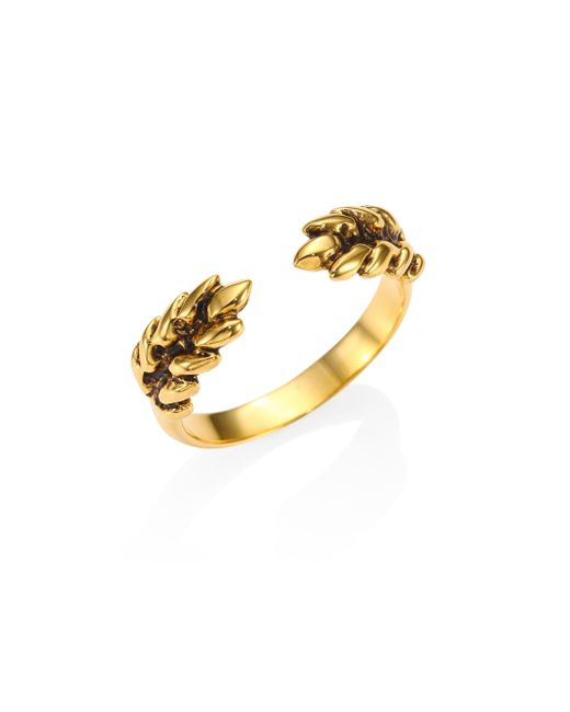 Aurelie Bidermann - Metallic Two Cobs Wheat Ring - Lyst