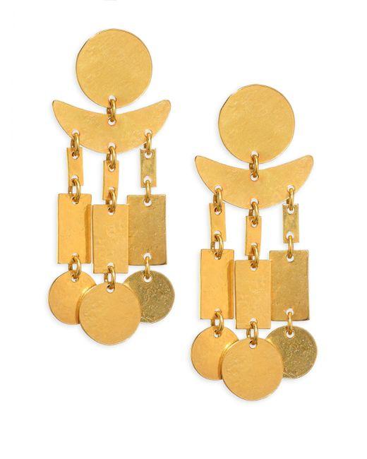Nest   Metallic Hammered Dangle Earrings   Lyst