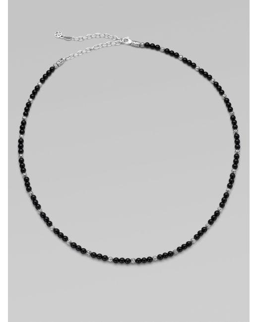 John Hardy - Black Sterling Silver Necklace/onyx - Lyst