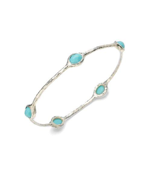 Ippolita | Blue Rock Candy Turquoise & Sterling Silver Five-stone Bangle Bracelet | Lyst