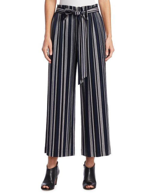 Pleats Please Issey Miyake | Blue Cheerful Cropped Wide-leg Pants | Lyst