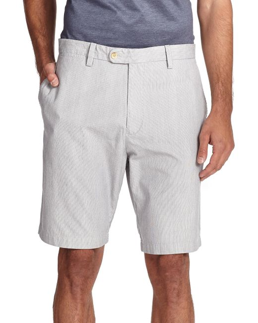 Saks Fifth Avenue - Blue Collection Pincord Bermuda Shorts for Men - Lyst