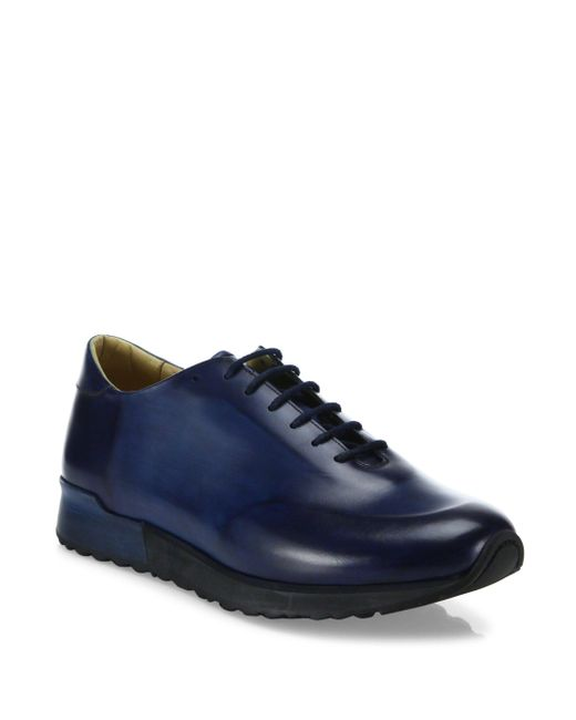 Sutor Mantellassi | Blue Samson Whole Cut Leather Sneakers for Men | Lyst
