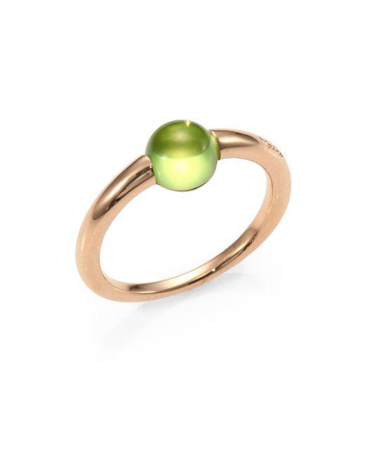 Pomellato - Metallic Peridot Cabochon & Rose Gold Ring - Lyst