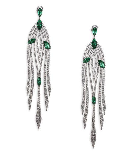 Adriana Orsini - Metallic Garden Crystal Drop Earrings - Lyst