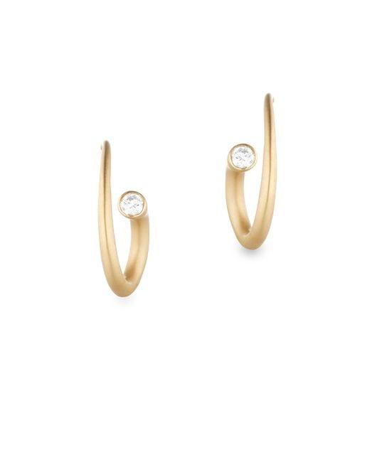 Carelle - Metallic Whirl Diamond & 18k Yellow Gold Spiral Earrings - Lyst