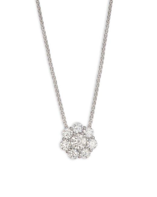Lyst hearts on fire beloved diamond flower pendant necklace in hearts on fire metallic beloved diamond flower pendant necklace lyst aloadofball Gallery