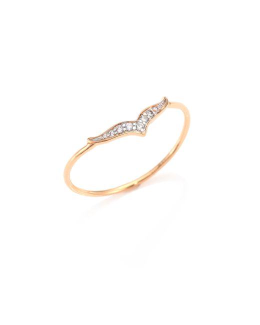 Ginette NY - Pink Wise Diamond & 18k Rose Gold Ring - Lyst