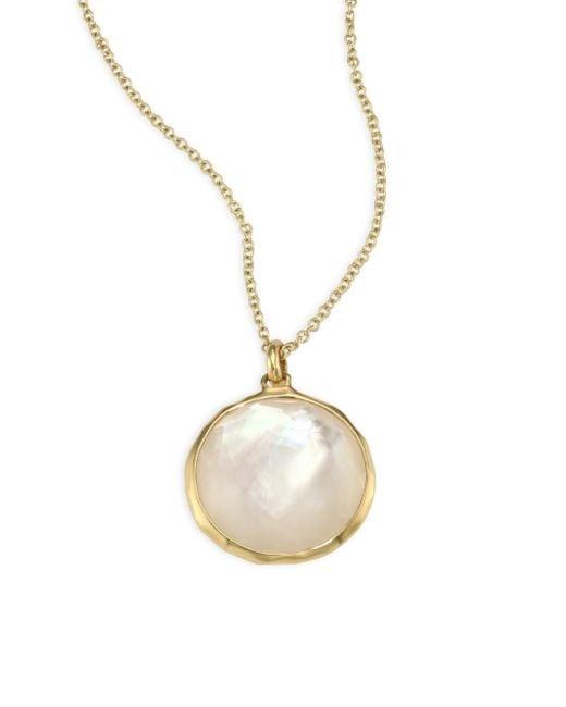 Ippolita - Metallic Lollipop® Diamond & Mother-of-pearl Medium Pendant Necklace - Lyst