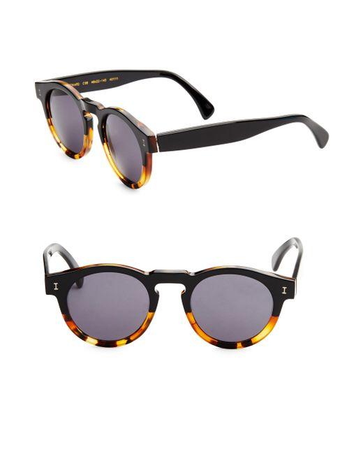 Illesteva - Multicolor 48mm Leonard Half Half Round Sunglasses - Lyst
