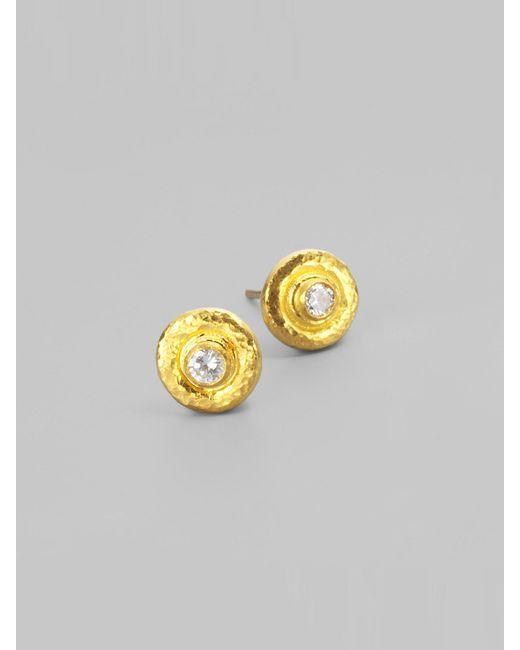 Gurhan - Metallic Diamond & 24k Gold Droplet Earrings - Lyst