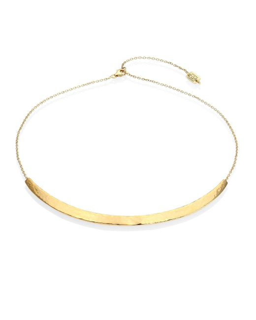 Ippolita - Metallic 18k Classico Medium Curved Knife Edge Bar Necklace - Lyst