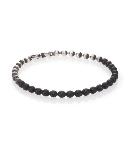 Title Of Work | Metallic Beaded Leather Bracelet for Men | Lyst