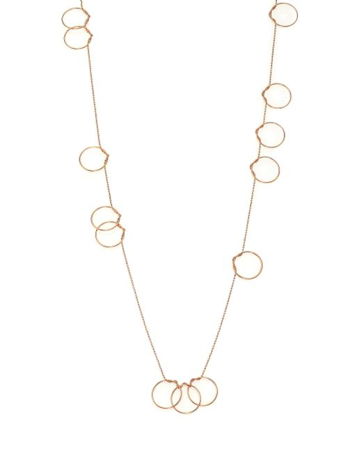 Ginette NY - Metallic Thirteen Circle 18k Rose Gold Necklace - Lyst