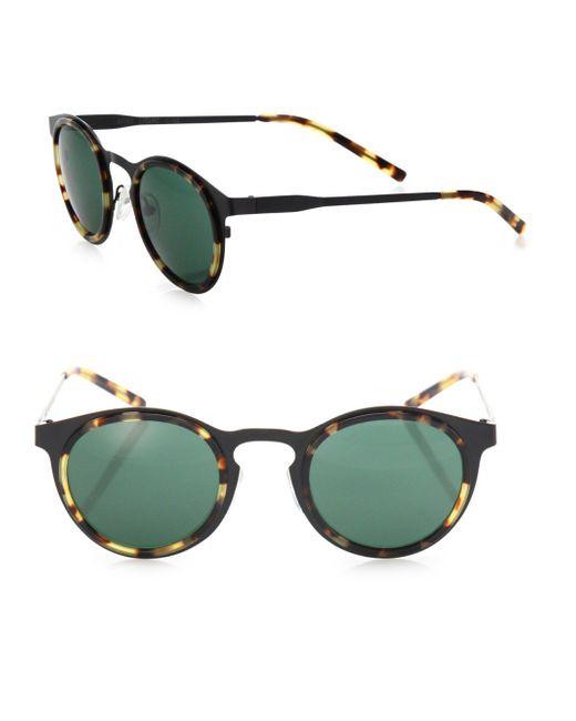 Kyme - Green Miki Light 46mm Round Sunglasses for Men - Lyst