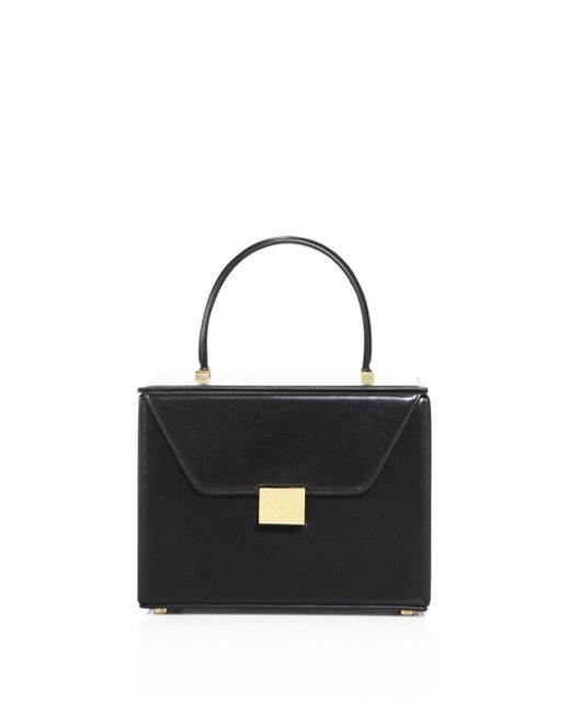Victoria Beckham - Black Vanity Leather Mini Bag - Lyst