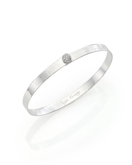 Phillips House - Metallic Affair Infinity Love Always Diamond & Hammered 14k White Gold Bracelet - Lyst