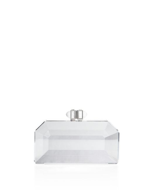 Judith Leiber Couture | White Faceted Box Clutch | Lyst
