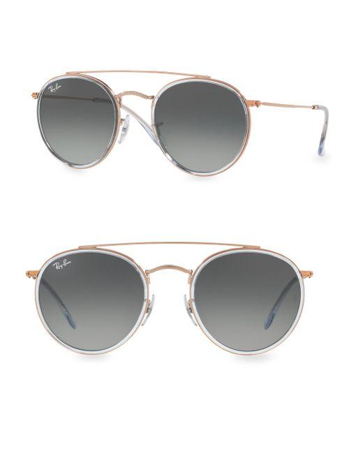 Ray-Ban - Gray Iconic Round Aviator Sunglasses - Lyst