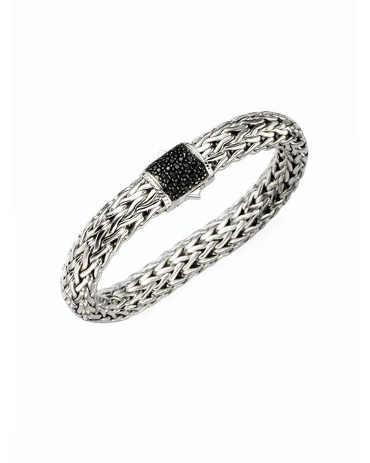 John Hardy | Metallic Classic Chain Black Sapphire & Sterling Silver Large Bracelet | Lyst