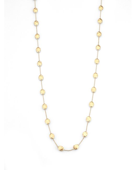 Marco Bicego | Metallic Siviglia 18k Yellow Gold Station Necklace | Lyst
