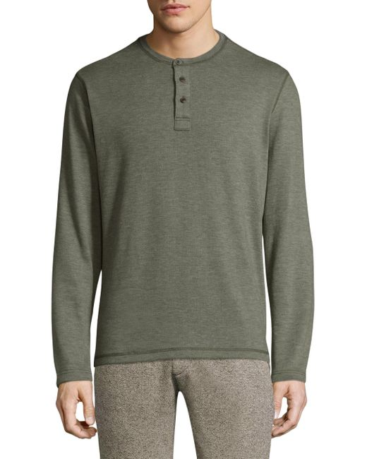 Surfside Supply | Green Textured Buttoned Henley for Men | Lyst