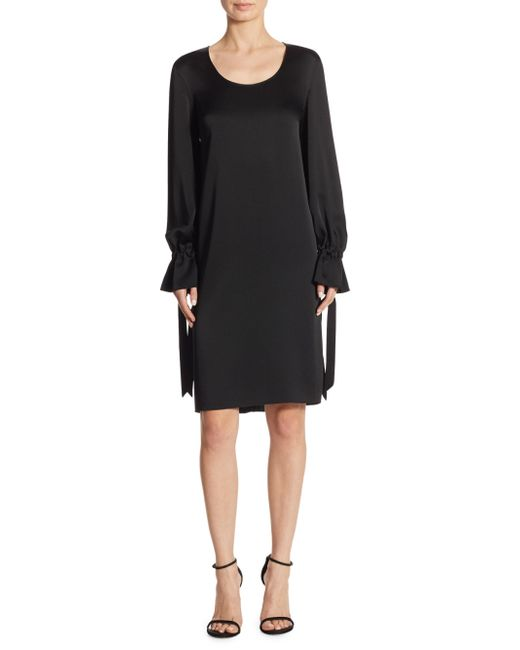 Elizabeth and James - Black Easy-fit Salome Cuff-tie Dress - Lyst