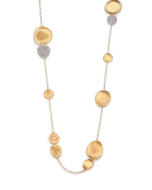 Marco Bicego - Metallic Lunaria Diamond & 18k Yellow Gold Station Necklace - Lyst